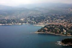 Франция смотря миниатюрный юг Стоковая Фотография RF
