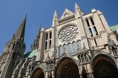 Франция, собор Chartres в Eure et Loir Стоковое Фото