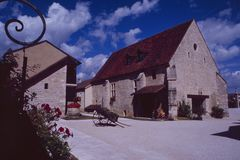 Франция: старый курорт страны в Бургундии Стоковая Фотография