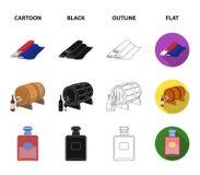 Франция, страна, нация, национальная Значки собрания страны Франции установленные в шарже, черноте, плане, плоском символе вектор иллюстрация вектора
