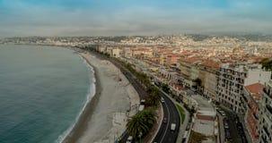 Франция славная Славная улица Франции Славный заход солнца Франции Славный пляж Франции Славная Франция Cote d'Azur Славный город акции видеоматериалы