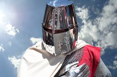 Франция, фестиваль Templar средневековый Байё стоковые фотографии rf
