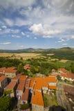 Франция, Auvergne, деревня Montpeyroux Стоковое Изображение