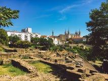 Франция lyon Взгляд археологической зоны античного периода на холме Fourviere Стоковые Изображения RF