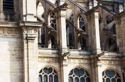 Франция paris Готическая церковь Eustache Святого Стоковое фото RF