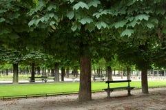 Франция paris 16-ое июля 2016 Люксембургский сад в Париже пуст для соображения безопасности Стоковое Изображение
