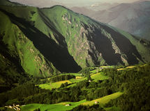Франция pyrenees Испания стоковое изображение rf