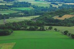 Франци-обзор дистантной бургундской аграрной сельской местности Стоковое Изображение RF