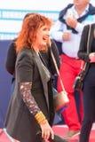 Французская актриса Сабин Azema на красном ковре на 43rd festiva фильма Deauville американском Стоковая Фотография RF