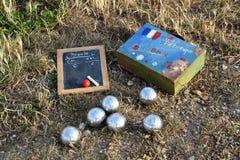 Французская игра в петанки boules Стоковое Изображение