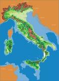 французская карта Италии Стоковое Изображение RF
