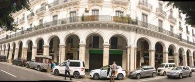 Французская колониальная сторона города Алжира Алжира Современный город много старый французский тип здания стоковые изображения