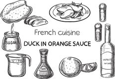 Французская кухня Стоковое фото RF