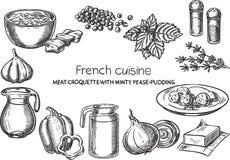 Французская кухня Стоковые Изображения