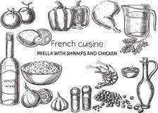 Французская кухня Стоковое Изображение