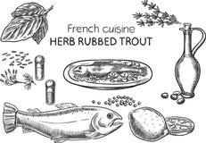 Французская кухня Стоковые Фото