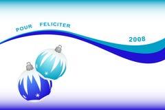 Французская предпосылка рождества иллюстрация штока