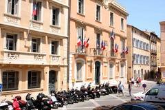 Французская ривьера здание муниципалитета St Tropez стоковая фотография rf
