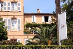 Французская ривьера кафа St Tropez Dior стоковые изображения rf