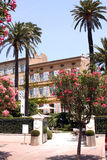 Французская ривьера кафа St Tropez Dior стоковое фото rf