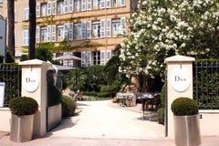 Французская ривьера кафа St Tropez Dior стоковые фотографии rf