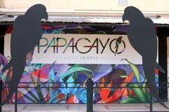 Французская ривьера клуба St Tropez Papagayo стоковые изображения rf