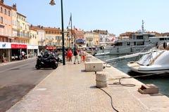 Французская ривьера порта St Tropez стоковое изображение rf