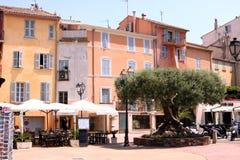 Французская ривьера улицы St Tropez стоковая фотография rf