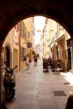 Французская ривьера улицы St Tropez стоковое фото