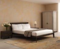 Французская спальня стиля коттеджа романтичный интерьер Стоковые Изображения RF