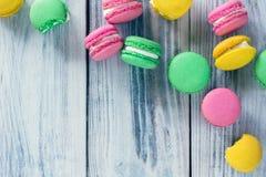 Французская традиция - красочные macaroons Стоковое Изображение