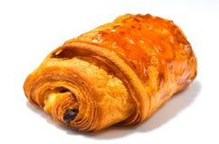 Французская хлебопекарня круассана шоколада Стоковая Фотография