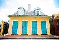 французская четверть New Orleans дома стоковая фотография rf