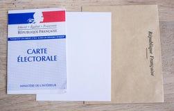 Французская электоральная концепция крупного плана, президентских и выборов в законодательные органы карточки Стоковое фото RF