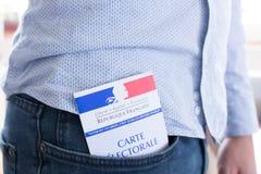Французская электоральная концепция крупного плана, президентских и выборов в законодательные органы карточки Стоковые Фото