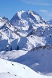 Французские высокогорные горные пики Стоковое фото RF