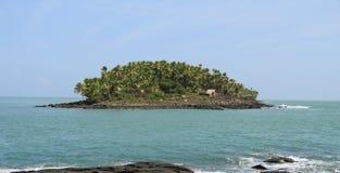 Французские Гвианы, Iles du Salut - острова ` s спасения: Остров ` s дьявола с хатой Dreyfus стоковые изображения rf