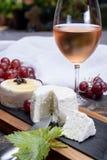 Французские мягкие сыры, разнообразие различного natura молока козы вкуса стоковое фото
