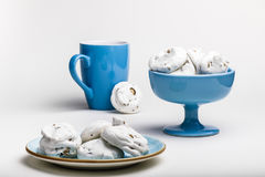 Французские печенья меренги Стоковые Изображения