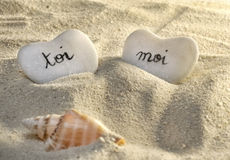 французские сердца я камушки зашкурят вас Стоковое Изображение RF