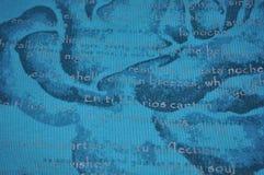 французские серебряные слова teal Стоковые Изображения RF
