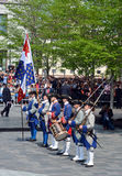Французские солдаты режима Стоковые Изображения