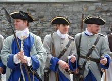 Французские солдаты режима Стоковые Фото