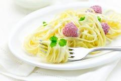 Французские спагетти блюда с поленикой Стоковое Изображение