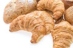 Французские хлеб и хлебопекарня круассана масла Стоковое Изображение RF