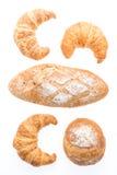 Французские хлеб и хлебопекарня круассана масла Стоковые Фото
