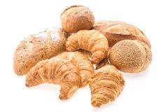 Французские хлеб и хлебопекарня круассана масла Стоковые Изображения RF