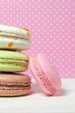 французские macaroons Десерт Стоковое Фото