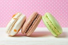 французские macaroons Десерт Стоковая Фотография