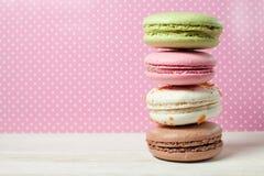 французские macaroons Десерт Стоковое Изображение RF